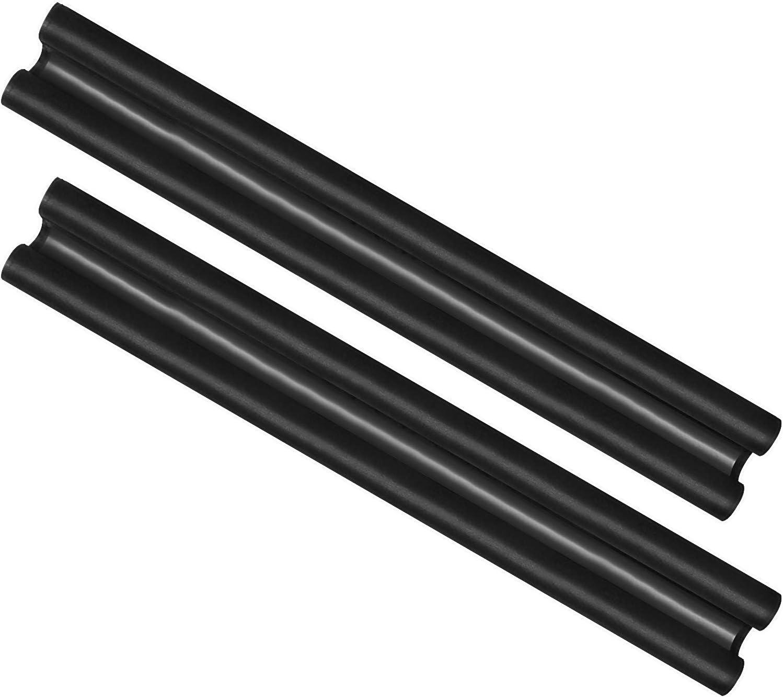 com-four® 2X Tope de Tiro para la Puerta - Sello de Puerta de Microfibra - Tope de Tiro con Doble Sello - Protección contra Corrientes de Aire y Ruido - 86 cm (002 Piezas)