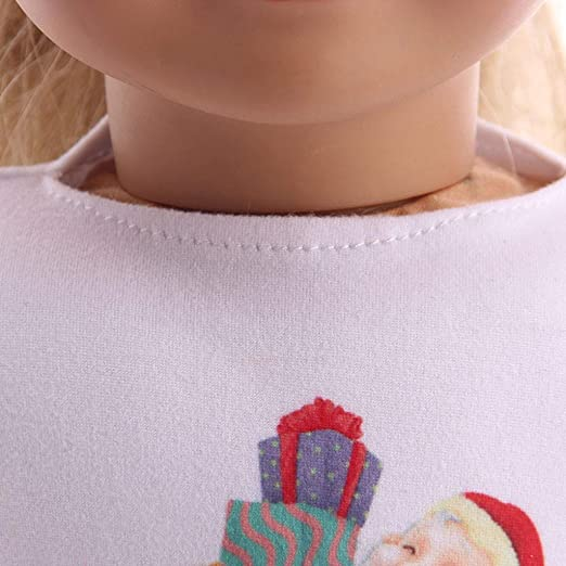 Amazon.com: LtrottedJ Chirstmas Clothes Dress Shirt for 18 Inch American Girl Doll Accessory Toy (B): Toys & Games