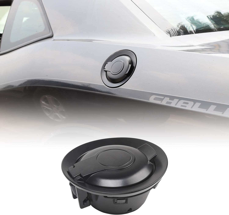 Matte Black JeCar Fuel Filler Door Aluminum Alloy Gas Cap Cover ...