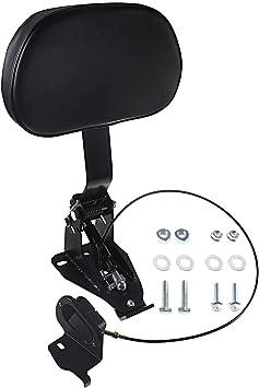 Adjustable Driver Backrest With Mount For Harley Touring Street Glide Road King Electra Glide CVO 2009-2020