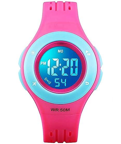 Relojes Digitales para niños y niñas, 50 m, Resistente al Agua, con Alarma, cronómetro, Reloj de Pulsera de Clase Superior para niños y niñas