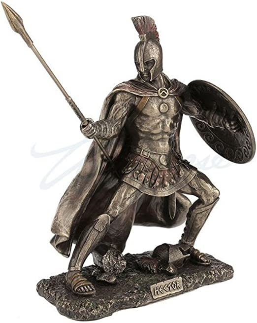 Hector Cold Cast Bronze 9 1//8 Tall Trojan Prince In The Trojan War