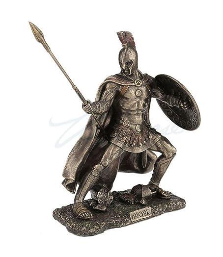 Hector, Trojan Prince In The Trojan War, Cold Cast Bronze, 9 1 8 Tall