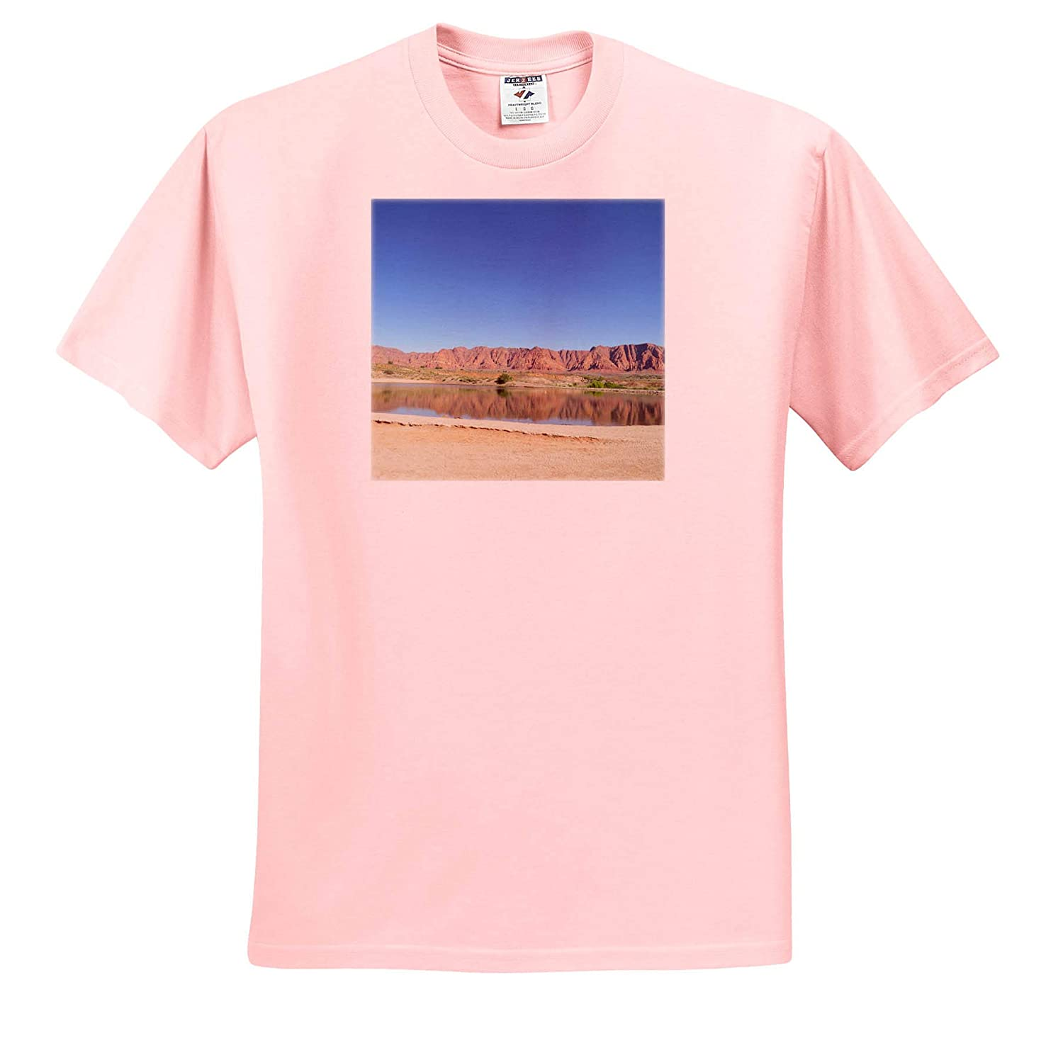 The Lake in Ivins on The Shivwit Property 3dRose Jos Fauxtographee T-Shirts Ivins Reservoir Utah