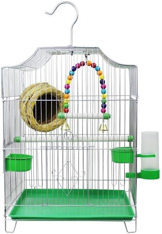 xiaokeai Jaula de Loros Suministros for Mascotas creativos Jaula de Aves Familiar al Aire Libre Jaula de Aves canarias Perla Jaula de pájaros