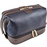 Vetelli Leo Leather Toiletry Bag for Men - Dopp Kit - Handmade for Traveling Vacations and Adventures. The ultimate gift and travel accessory.