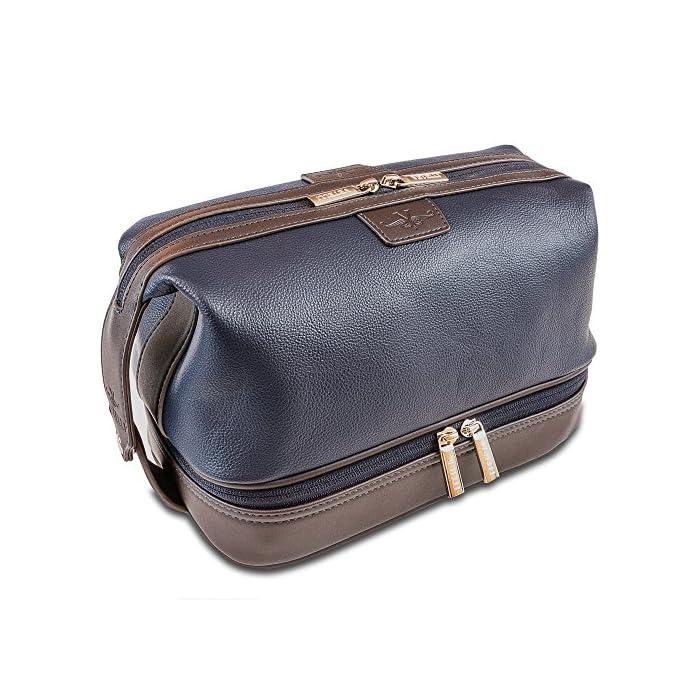 84e285988f Vetelli Leo Leather Toiletry Bag for Men - Dopp Kit - Handmade for ...