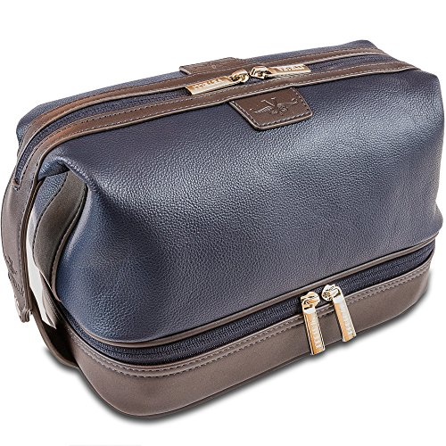 - Vetelli Leo Leather Toiletry Bag for Men - Dopp Kit - Handmade for Traveling Vacations and Adventures. The ultimate gift and travel accessory.