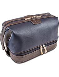 Vetelli Leo Leather Toiletry Bag for Men - Dopp Kit - Handmade for Traveling Vacations and Adventures. The ultimate...