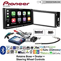 Volunteer Audio Pioneer AVH-2440NEX Double Din Radio Install Kit with Apple CarPlay, Android Auto and Bluetooth Fits 2005-2013 Chevrolet Corvette, 2006-2009 Hummer H3 (Bose and SWC)