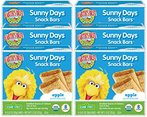 Earth's Best Organic Sunny Day Toddler Snack Bars with Cereal Crust, Made With Real Apples - 8 Count (Pack of 6) by Earth's Best (Image #6)
