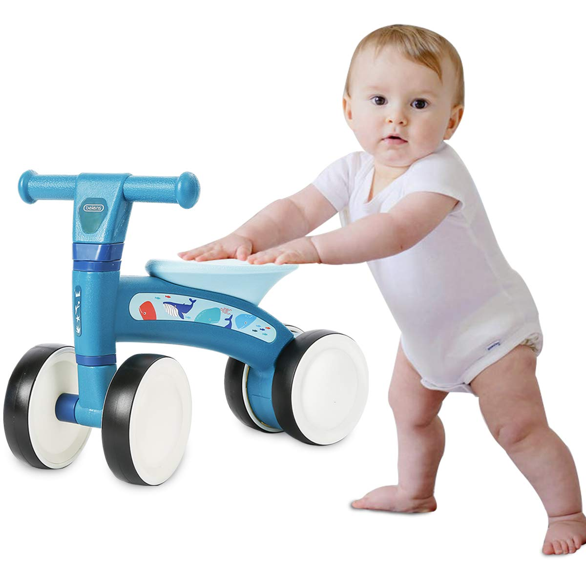 beiens Baby Balance Bikes Bicycle Toys Rides for 1 Year Boys Girls 10-24 Months Infant Baby's First Bike First Birthday Gift