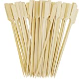 Oriental Creations Premium 8 Inch Natural Bamboo Sticks Paddle Skewers (200, 8 Inch)