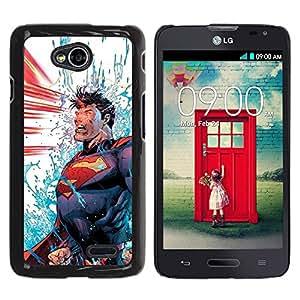 iKiki Tech / Estuche rígido - Blue Red Man Cartoon Power - LG Optimus L70 / LS620 / D325 / MS323