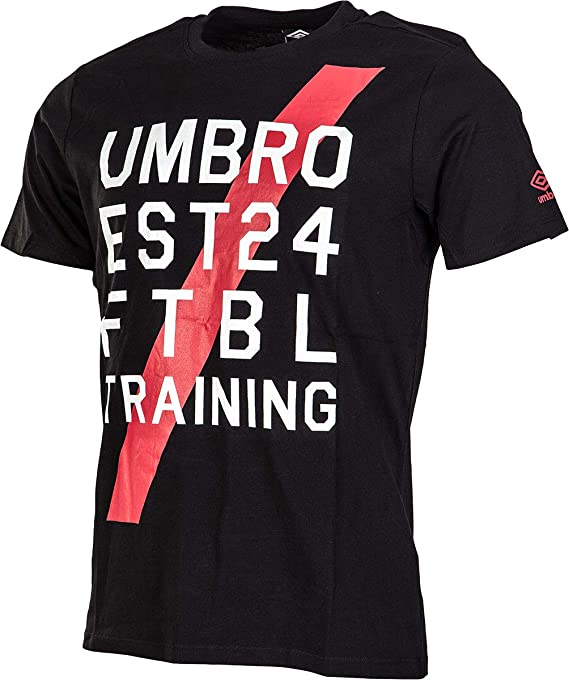 Umbro Graphic Ftbl Tee Black - Camiseta para hombre: Amazon ...