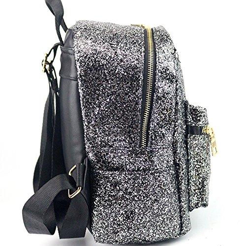 A main Wind dos Femme Vicgrey Fashion à Glossy à Casual Moda College Sac Sequins Shopping Sac xZ8qA