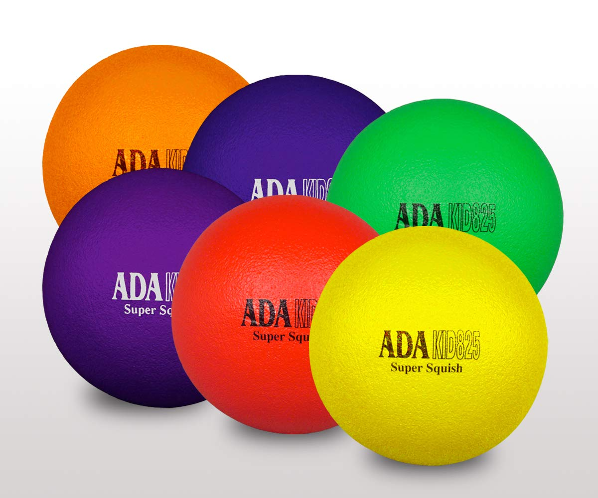 ADA Sports Kid Super Squish 6'' Balls - Rainbow - Set of 6