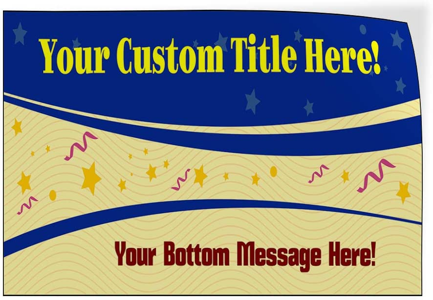 Your Message Here Blue Lifestyle Baby Shower Celebration Outdoor Luggage /& Bumper Stickers for Cars Blue 66X44Inches Set of 2 Custom Door Decals Vinyl Stickers Multiple Sizes Your Title