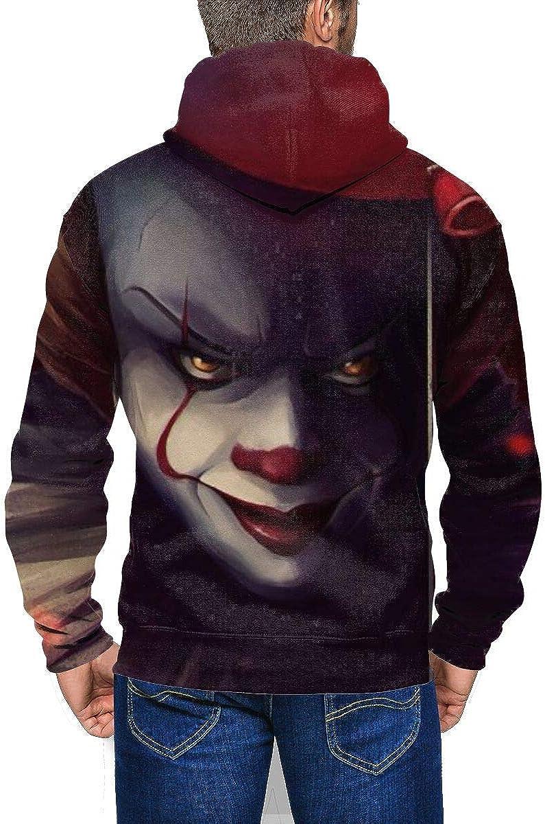 WGJ258R4AB Mens Hooded I-Clown-T Long Sleeve Zip Zipper Sweatshirts Hoodies Sweaters Jacket Pocket