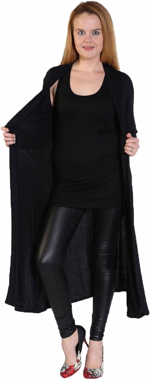 RIDDLED WITH STYLE taglie forti Maxi cardigan a maniche lunghe da donna