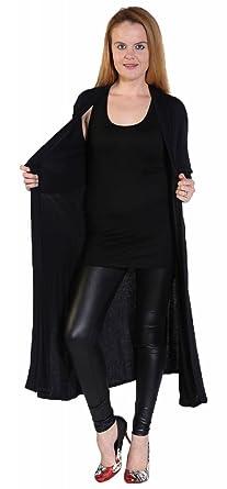 New Womens Ladies Long Sleeve Open Maxi Boyfriend Cardigan Plus Size 8-26