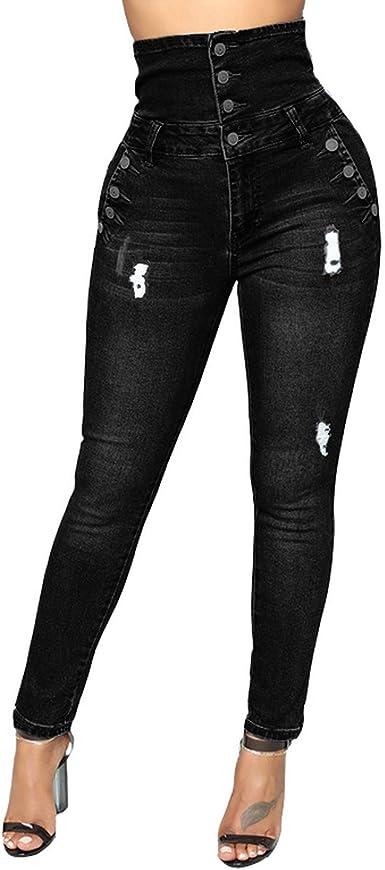 Fightly Pantalones Ajustados Con Botones Altos Y Cintura Alta Pantalones Sensuales Para Mujer Pantalones De Club Pantalones De Lapiz Sexy Y De Club Amazon Es Ropa Y Accesorios