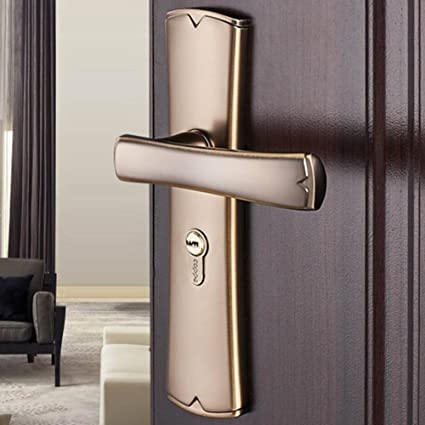 Amazon.com: TDJDYQ Door Lock Indoor Bedroom, Bathroom Wooden ...