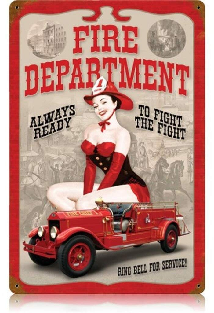 Amazon.com: BinLtd Fire Dept. Pin Up - Carteles de chica ...