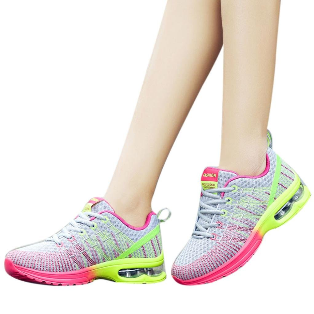 Clearance❤️Women Sneakers, Neartime Fashion Colorful Breathable Comfortable Athletic Shoes Round Toe Basic Running Sport Shoes