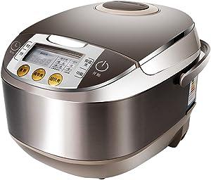 TQMB Rice Cooker Steamer Stainless Steel Stewpot 5L Multi Low Removal Sugar Inner Pot Digital Intelligent Programmable Saute Health Grain Maker 24 Hours Preset & Instant Keep Warm