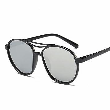 mode trimmen sonnenbrille Männer und frauen helle reflektierende Spiegel sonnenbrillen heller schwarzer rahmen Rzz5vu