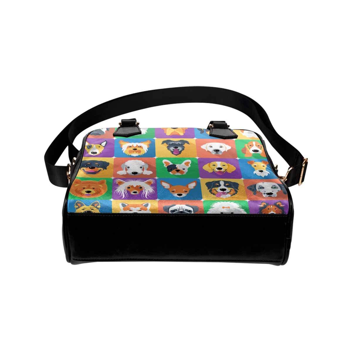 InterestPrint Custom Unique Womens PU Leather Shoulder Bags Handbags