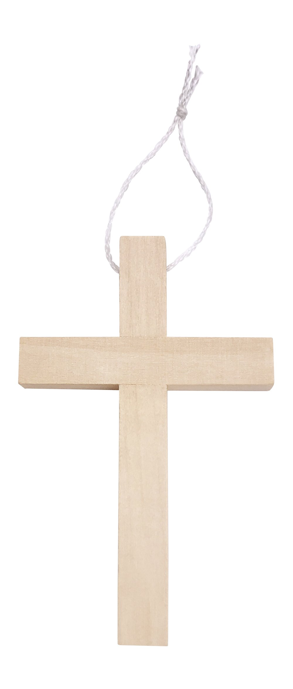"""Small Wooden Crucifix Crosses One Pack of 25 Pieces 3¼"""" Tall Natural Color"""
