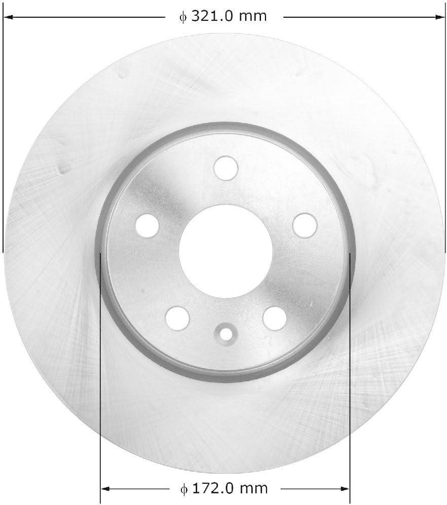 Bendix Premium Drum and Rotor PRT5973 Front Rotor