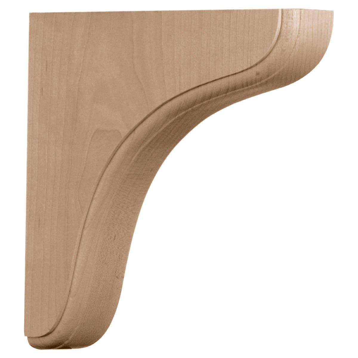 Ekena Millwork BKTW02X08X08EARO-CASE-2 1 3/4 inch W x 7 1/2 inch D x 7 1/2 inch H Eaton Wood Bracket, Red Oak (2-Pack), by Ekena Millwork