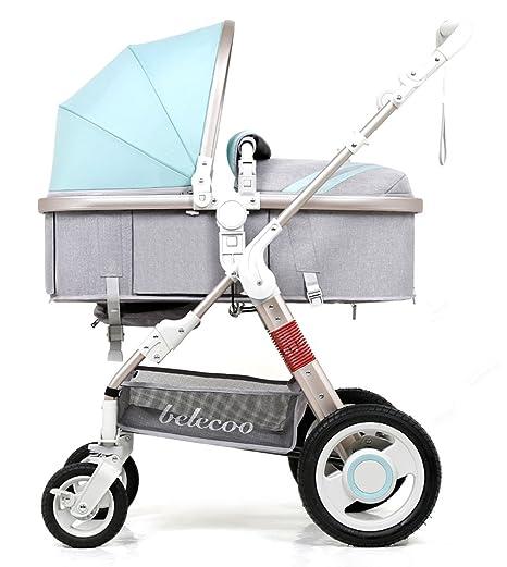 YBL - Cochecito de bebé portátil de alto paisaje con amortiguador integrado para cuatro estaciones disponibles, ...