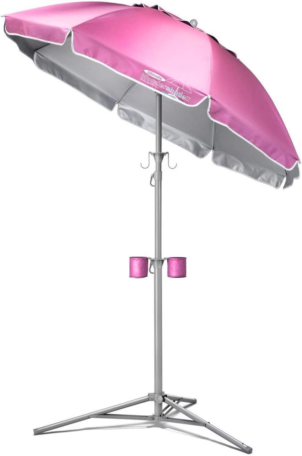 Wondershade Ultimate Portable Sun Shade Umbrella, Lightweight Adjustable Instant Sun Protection – Pink