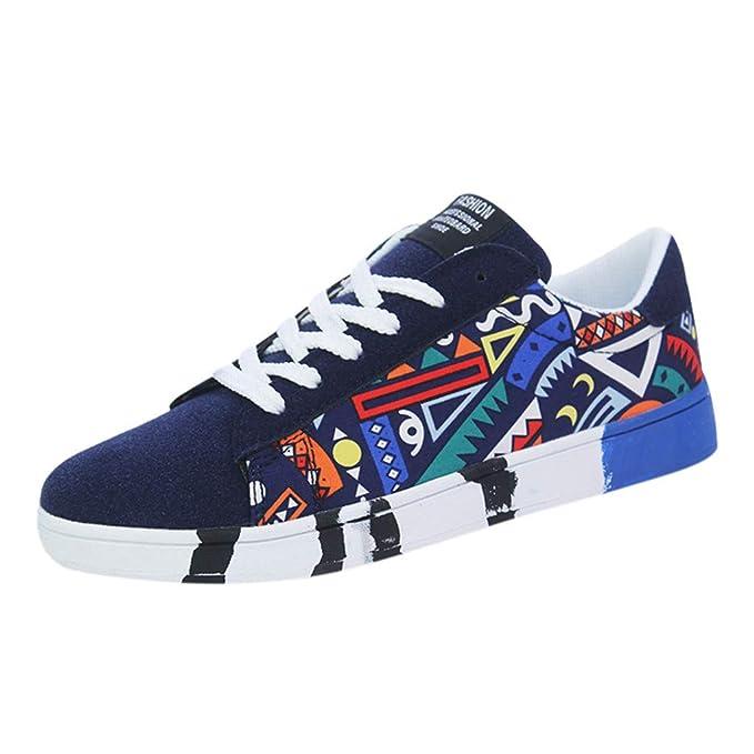 Con Lona Zapatos Casuales Las Deportivas Casual De Transpirables Zapatillas Color Jiameng Graffiti Para Cordones E9H2ID