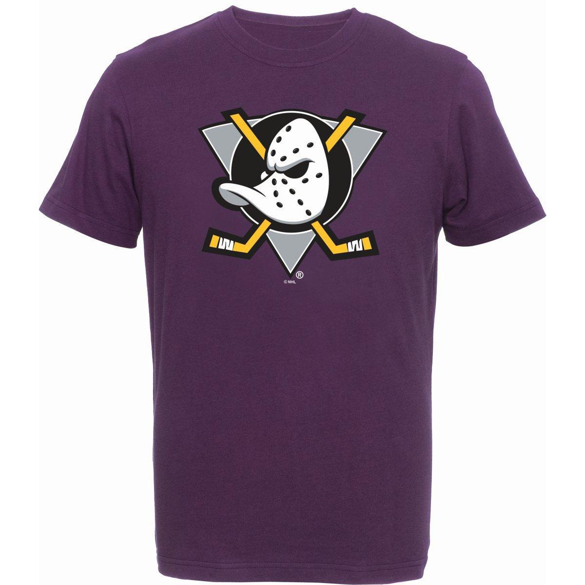 NHL T-Shirt ANAHEIM MIGHTY DUCKS Fanshirt lila Eishockey majestic athletics
