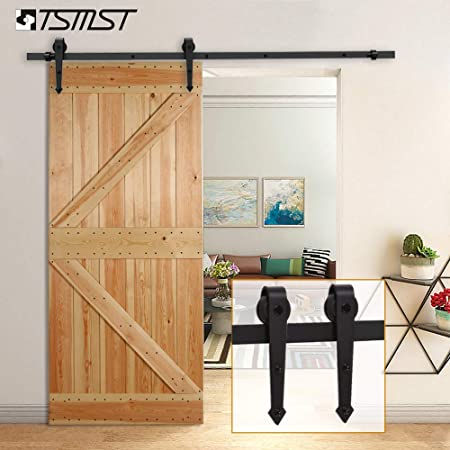 6.6 Feet Arrow Style Sliding Barn Door Hardware Barn Wood Door Track Wheel Kit