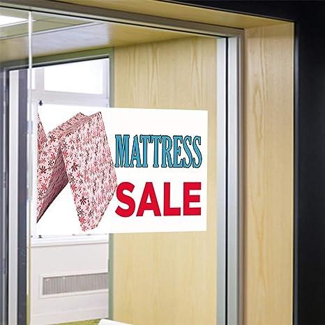 69inx46in Decal Sticker Multiple Sizes Mattress Sale #1 Style H Business Mattress Sale Outdoor Store Sign White One Sticker