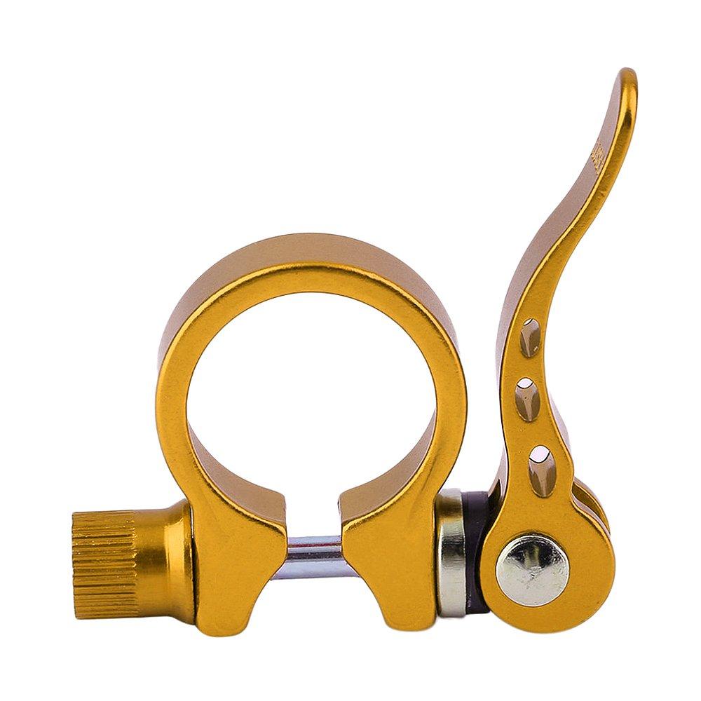 Weka頑丈な自転車サイクリングシートポストシートクランプクイックリリースSitチューブクリップ34.9 MM / 31.8 mm B07458PBMT M(3.49cm) ゴールド ゴールド M(3.49cm)