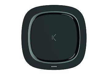 Cargador Inalámbrico Sin Cables para Carga Rápida de10W, Compatible con carga rápida de Apple, Diseño Compacto y Ligero, Color Negro