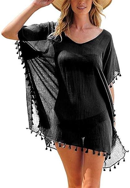 Amazon.com: Etecredpow - Bañador para mujer con borla de ...