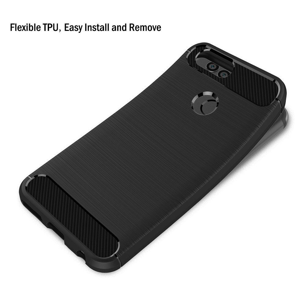 Coque-Etui-Housse-Silicone-brossee-Fibre-de-carbone-Noir-Protection-Huawei miniature 48