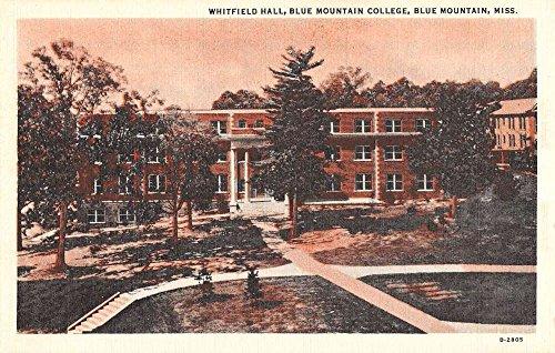 Blue Mountain Mississippi College Whitfield Hall Antique Postcard K88665 (Postcard Mississippi)