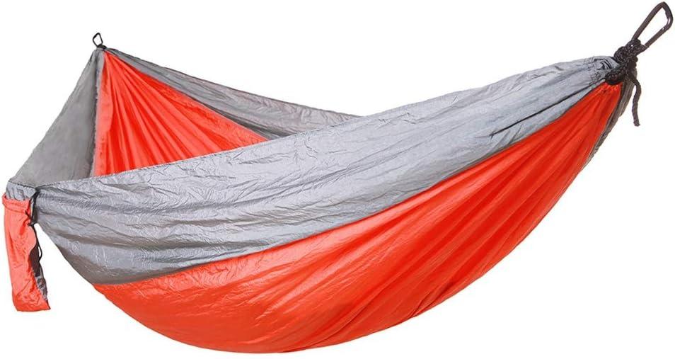 duradero. 1 # Cama colgante port/átil de nylon con doble hamaca para camping con correa para 2 /árboles para viajes peso ligero senderismo mochilero patio playa puede contener hasta 200 kg