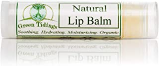 product image for Green Tidings Organic Lip Balm Tube for Chapped Lips | Fair Trade, Non-Toxic & Non-GMO Vitamin E Lip Moisturizer | 100% Natural, Vegan Lip Hydration Balm Made from Candelilla Wax (.15 oz)
