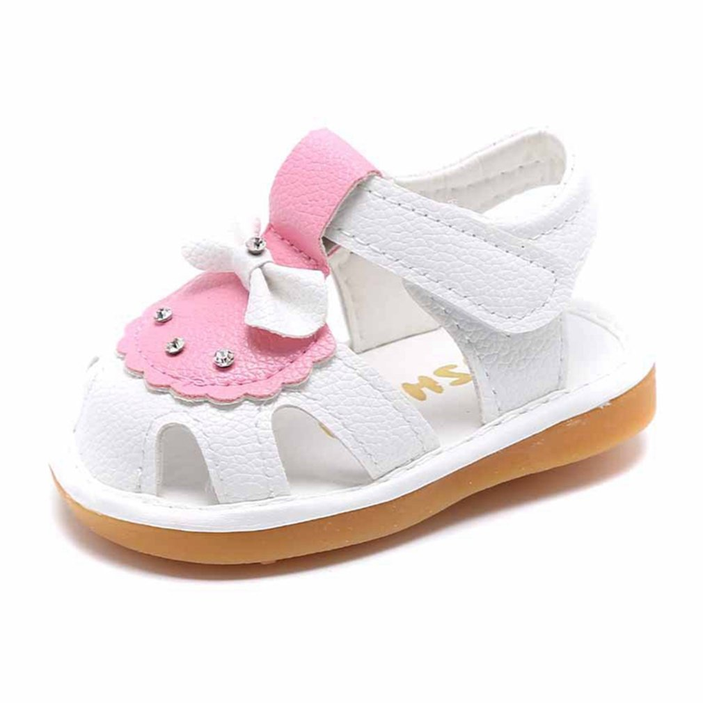 CYBLING Toddler Girls Sandals Cute Bowknot Closed-Toe Sport Summer Baby Casual Shoes