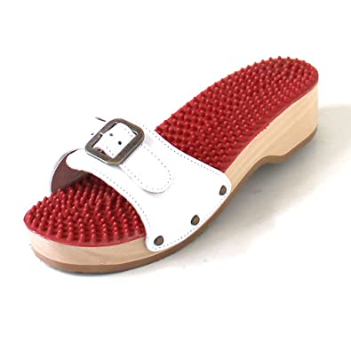 best sneakers 4170b 0d4df Berkemann Noppen-Sandale Absatz Weiß: Amazon.co.uk: Shoes & Bags